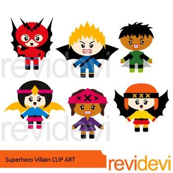 Superhero Villain clip art