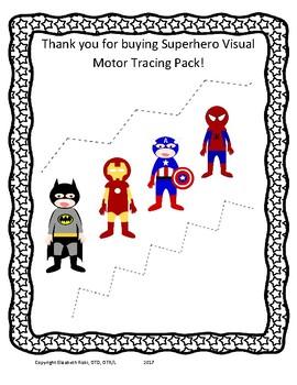 Superhero Visual Motor and Fine Motor tracing pack! k 1 2 special ed OT