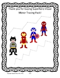 Superhero Visual Motor and Fine Motor tracing pack! k 1 2