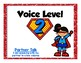 Superhero Voice Level and Volume Chart Display Poster