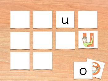 Vowels Memory Game - Juego de memoria de las vocales