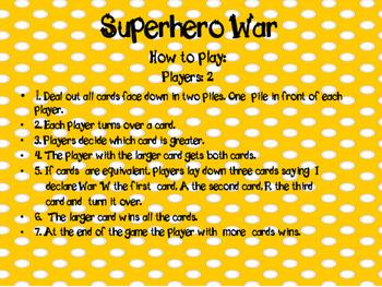 Superhero War Game