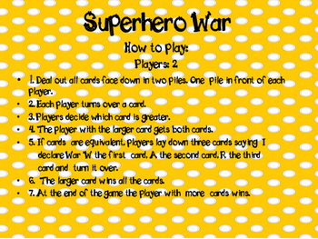 Superhero War Game