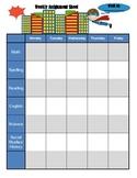 Superhero Weekly Assignment Sheet x3
