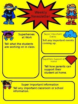 Superhero Weekly Newsletter