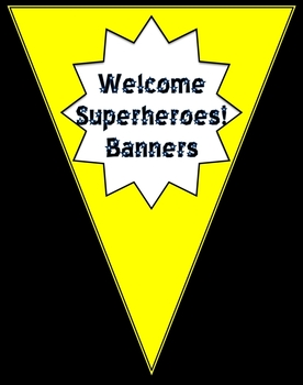 Superhero Welcome Banners