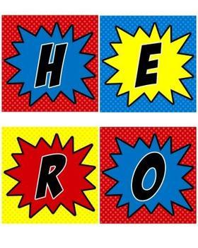 Superhero Welcome Door (Super Hero Theme)