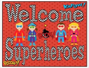 Superhero Welcome Pack!