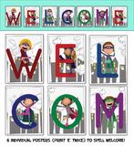 Superhero Welcome Posters - Printable Posters for Superhero Class Theme