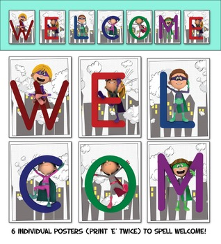 Superhero Welcome Posters - Printable Posters for Superher