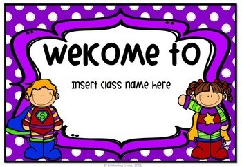 Superhero Welcome Signs - Editable