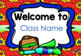 Superhero Welcome Signs (Editable) - Superhero Classroom Decor