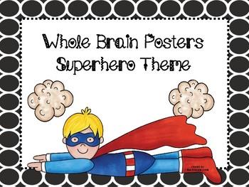 Superhero Whole Brain Posters