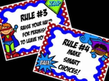 Superhero Whole Brain Teaching Class Rules
