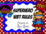 Superhero Whole Brain Teaching Class Rules