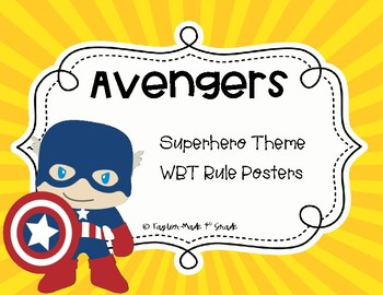 Superhero Whole Brain Teaching Rule Posters