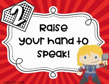 Superhero Whole Brain Teaching Rule Posters
