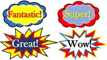 Superhero Word Art