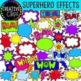 Superhero Word Art and Effects {Superhero Clipart}