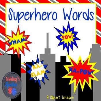 Superhero Word Clipart
