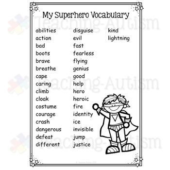 Superhero Word Search Activity