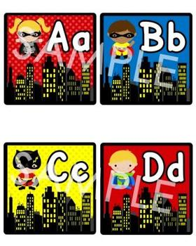 Superhero Word Wall (Super Hero Theme)