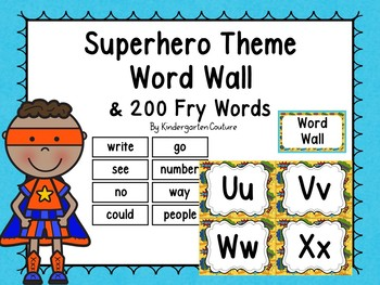Superhero Word Wall