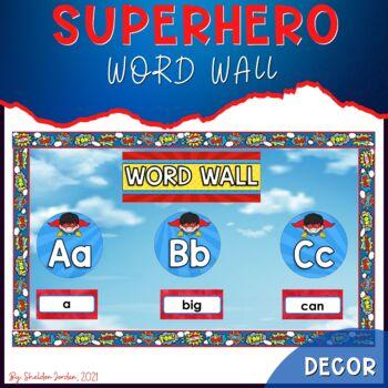 Superhero Theme Classroom Decor: Word Wall