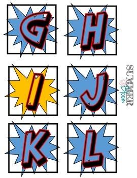 Superhero Word Wall Alphabet