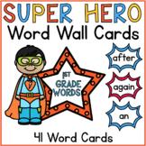 Superhero Word Wall Cards 1st Grade Sight Words