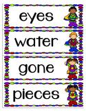 Superhero Word Wall HF/vocab Words  2nd grade Reading Street long and short