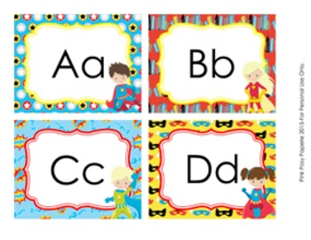 Superhero Word Wall Headers