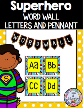 Superhero Word Wall Letters