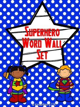 Superhero Word Wall Set