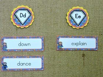 Superhero Word Wall: With Editable Word Cards