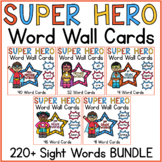 Superhero Word Wall Word Cards Bundle 220 Sight Words