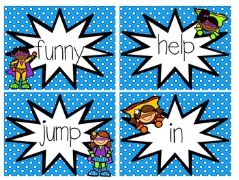 Superhero Word Wall Words (Editable)