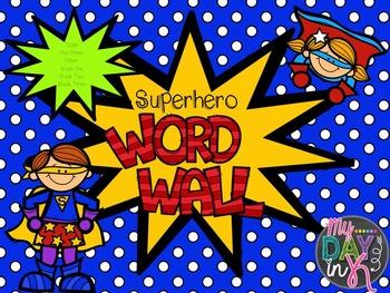 Superhero Word Wall Words (Editable)