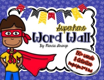 Superhero Word Wall and Word Wall Activities