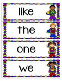Superhero Word Wall vocab Words 1st grade Reading Street long and short
