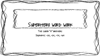 Superhero Word Work