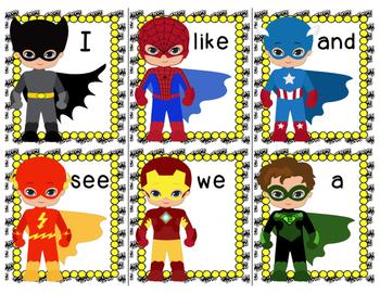 Superhero Words! Sight Words and CVC Words
