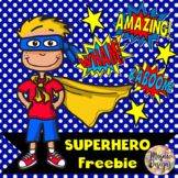 Superhero Words and Phrases Clipart Freebie