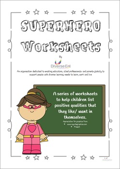 Superhero Worksheets - Character Building