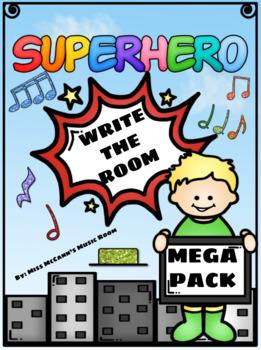 Superhero Write the Room BUNDLE!