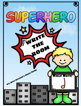 Superhero Write the Room Half Note (ta-ah)