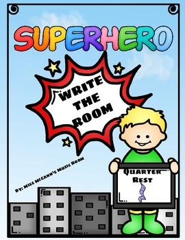 Superhero Write the Room Quarter Rest (Z)