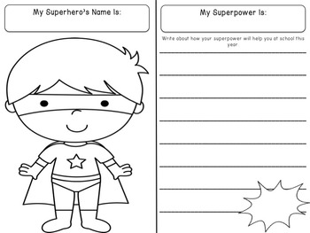Bulletin Board Set: Superhero Writing Activity