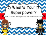 Bulletin Board Set: Superhero Writing Activity