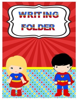 Superhero Writing Folder Cover